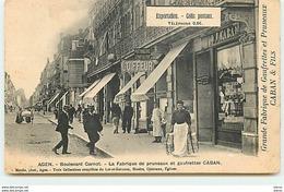 AGEN - Boulevard Carnot - La Fabrique De Pruneaux Et Gaufrettes Caban - Agen