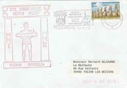 MIssion HERACLES - BTS BOUGAINVILLE Océan Indien Cachet Flamme Toulon Naval 13/5/2002 - Enveloppe 1 - Marcophilie (Lettres)