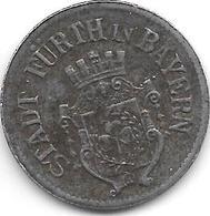 *notgeld Furth 50 Pfennig 1917 Fe  4613.10 / F 145.4b - Andere