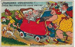 Monaco  Carte A Systeme Avec Depliant  10 Vues  Joyeuses Vacances  Sous Les Moutards Vous Verrez - Monaco