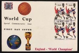 Great Britain 1966 First Day World Cup 1966 Mondiali Di Calcio Vincitori Coppa Del Mondo  Primo Giorno Cod.bu.268 - 1952-.... (Elisabetta II)