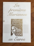 """DOCUMENT DE LA POSTE """"Les Premières Mariannes En Euros"""" - Blocs Marianne De Luquet Y&T 44 Et 45 - Neuf ** - Blocchi & Foglietti"""
