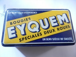 BOITE BOUGIES EYQUEM SPECIALES 2 ROUES MOBYLETTE MOBYMATIC - Scatole