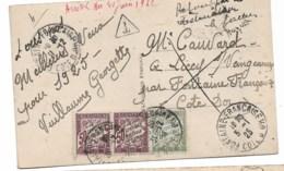 CPA 1925 Refusé Par Le Destinataire   Fontaine Française - Impuestos