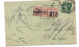 CPA 1924  De Dijon En Italie   Refusé - Portomarken