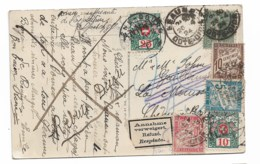 CPA 1924  De Beaune Vers La Suisse  Refusé  Adresse Insuffisante   Rebuts Dijon..... - Portomarken