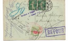 CPA 192  De Dijon Vers Le Luxembourg   Inconnu à L'appel Du Facteur  RETOUR ... - Taxes