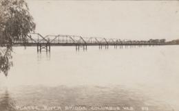 Etats-Unis - Columbus Nebraska - Platte River Bridege - Pont Sur La Rivière Platte - Carte-photo Watertown Wis. - Columbus