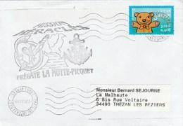 MIssion HERACLES - Frégate LA MOTTE PIQUET Cachet Flamme Paris Tri Interarmées 2/1/2002  - Enveloppe 2 - Storia Postale
