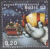 Bosna I Hercegovina 2003 Michel 318 O Cote (2006) 0.30 Euro Noël Traîneau Avec Cadeaux Cachet Rond - Bosnie-Herzegovine