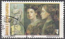Bosna I Hercegovina 2002 Michel 292 O Cote (2006) 1.80 Euro Tableau Deux Femmes Cachet Rond - Bosnie-Herzegovine