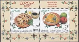 Srbija I Crna Gora 2005 Michel Bloc Feuillet 61 Neuf ** Cote (2015) 5.00 Euro Europa CEPT La Gastronomie - Serbie