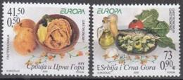 Srbija I Crna Gora 2005 Michel 3269 - 3270 Neuf ** Cote (2015) 4.60 Euro Europa CEPT La Gastronomie - Serbie