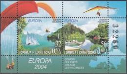 Srbija I Crna Gora 2004 Michel Bloc Feuillet 57 Neuf ** Cote (2015) 27.50 Euro Europa CEPT Les Vacances - Serbie