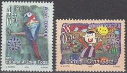 Srbija I Crna Gora 2005 Michel 3289 - 3290 Neuf ** Cote (2006) 2.40 Euro Dessins D'enfants - Serbie