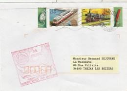 MIssion HERACLES - Frégate COURBET Cachet Flamme Paris Tri Interarmées 17/12/2001  - Enveloppe 1 - Train - Storia Postale