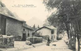 CPA 38 Isère Environs De Grenoble -  Pont De Claix - Descente Du Vieux Pont - Francia