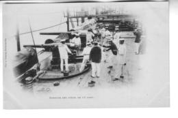 BATEAUX DE GUERRE  Exercice Sur Des Pieces De 16 Cent ( Précurseur ) - Warships