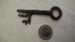 Clef Clé Key Ancienne Old Antique Fer Forgé - Ferronnerie