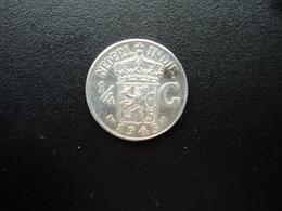 INDES NÉERLANDAISES : ¼ GULDEN   1945 S    KM 319     SUP+ - [ 4] Colonies