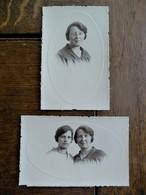 Lot Van 2 Stuks FOTO - Postkaart In SEPIA Kleur   Door              OMER D' HAESE AALST - Geïdentificeerde Personen