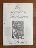 """DOCUMENT DE LA POSTE """"Les Dernières Mariannes En Francs"""" - Blocs Marianne De Luquet Y&T 41 Et 42 - Neuf ** - Blocchi & Foglietti"""