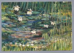 NL.- Maya Wildevuur, Waterlelies, Acryl Op Doek, 80 X 100 Cm..1998 - Schilderijen