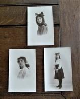 LOT Van 3 FOTO -postkaarten In SEPIA Kleur ( Bruinachtig ) Door Fotograaf B .  WILLEMSEN   Hopmarkt  AALST - Personnes Identifiées