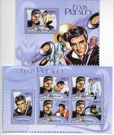 TIMBRES - STAMPS - SELLOS - GUINÉE-BISSAU / GUINÉ-BISSAU - 2012 - ELVIS PRESLEY - SERIE ET BLOC AVEC TIMBRES NEUFS - MNH - Elvis Presley