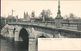 ! Alte Ansichtskarte Aus Magdeburg, Zollbrücke, Verlag Wilh. Hoffmann AG, Dresden Nr. 631 - Magdeburg