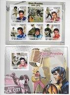 TIMBRES - STAMPS - SELLOS - GUINÉE-BISSAU / GUINÉ-BISSAU - 2009 - ELVIS PRESLEY - SERIE ET BLOC AVEC TIMBRES NEUFS - MNH - Elvis Presley