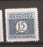 1943-44  24C  PERF- 11 1-2  PORTO  HRVATSKA CROAZIA KROATIEN  MNH - Croatie