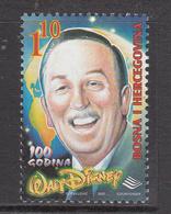 2001 Bosnia Walt Disney   Complete Set Of 1  MNH - Disney