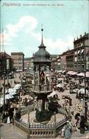 ! Alte Ansichtskarte Aus Magdeburg, Kaiser Otto Denkmal, Alter Markt, Tram, Verlag Louis Glaser, Leipzig - Magdeburg