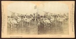 Stereoview - Kindergarten On The Beach - 1890 - Stereoscopi