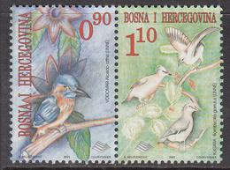 2001 Bosnia Kingfisher Birds Oiseaux  Pair  MNH  ***cheaper Than Buying Set*** - Other