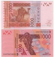 West African St. - Mali - 1000 Francs 2019  AUNC- Letter D Lemberg-Zp - Mali