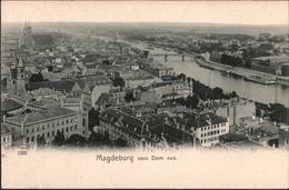 ! Alte Ansichtskarte Aus Magdeburg, Elbe, Vom Dom Gesehen - Magdeburg