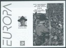OCB Nr 3633 + 3634  Europa Europe CEPT Scouts Scouting Baden Powel  - ZwartWit NoirBlanc - Black-and-white Panes