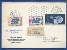 Enveloppe    Conseil De L'Europe     Oblitération:   Strasbourg 15-10-1962 - 1961-....