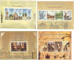 INDIA 2019 MS Set Indians In First World War, WW1 , Anniversary, Set Of 4 Miniatures (**) Inde Indien - WW1