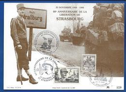 40 ° Anniversaire De La Libération De Strasbourg LECLERC  Tirage 129 Sur 800 Oblitération:  23 XI 1984 - Célébrités