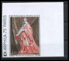France N°1766 Tableau (Painting) Arphila 75 Cardinal De Richelieu De Champaigne Non Dentelé ** MNH (Imperforate) - Francia