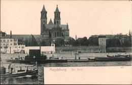 ! Alte Ansichtskarte Aus Magdeburg Dom, Elbe, Schiffe, Ships, Verlag: Wilhelm Hermann, Dresden, 607 - Magdeburg