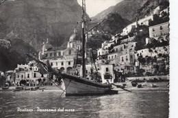 POSITANO-SALERNO-PANORAMA DAL MARE-CARTOLINA VERA FOTOGRAFIA VIAGGIATA IL 23-8-1958 - Salerno