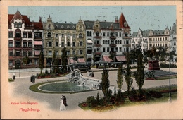 ! Alte Ansichtskarte Aus Magdeburg , Kaiser Wilhelmplatz, 1912, Verlag: R. Lederbogen - Magdeburg
