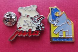 2 Pin's,Animaux,ELEFANT,Elephant - Animaux