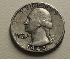 1943 - Etats - Unis - USA - QUARTER DOLLAR, Washington, KM 164 - Emissioni Federali