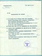 Ordre Orstkommandantur De Mons Pour Recherches Et Dénonciations Des Juifs 1940 Dans La Localité - 1939-45