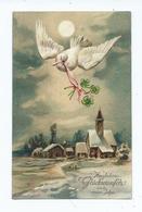 Embossed Postcard Christmas Hertzichen Gluckwunfch Xum Neuen Jahre Kuk Militar Zone Innsbruck - Christmas